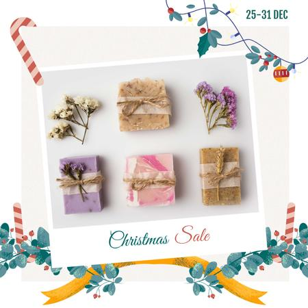 Christmas Sale Handmade Soap Bars Instagram Modelo de Design
