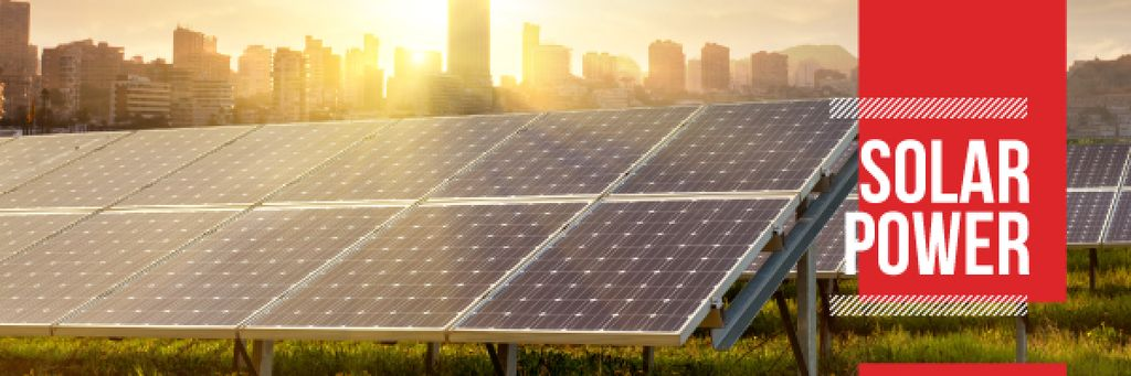 Energy Supply Solar Panels in Rows | Email Header Template — Crea un design