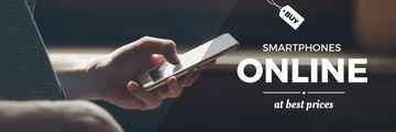 smartphones online store poster