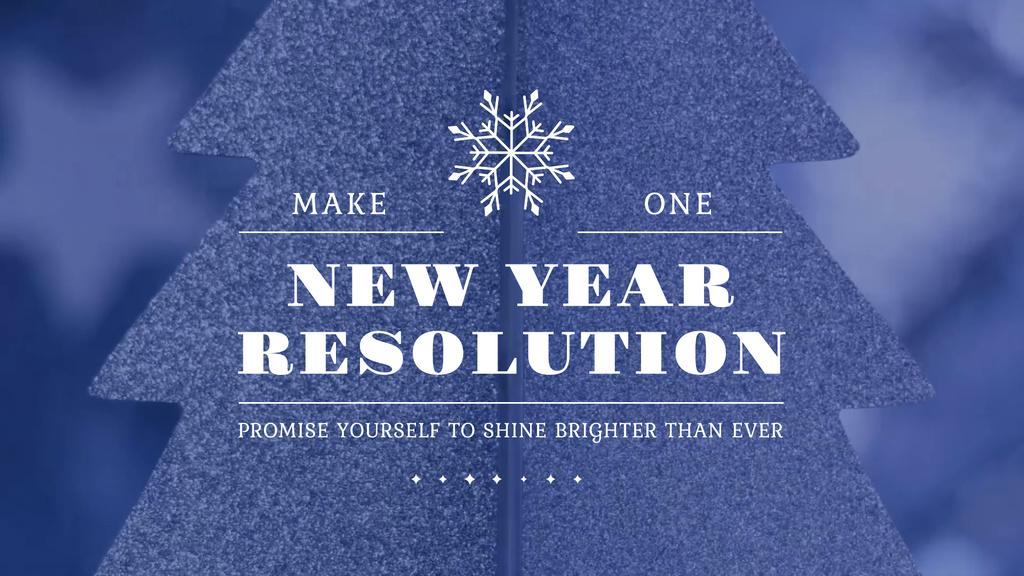 New Year Resolution Inspiration Glittering Tree — Modelo de projeto