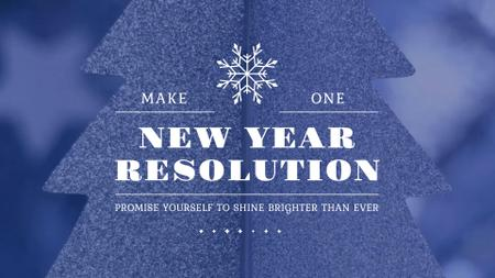 New Year Resolution Inspiration Glittering Tree Full HD video Tasarım Şablonu
