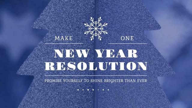 Ontwerpsjabloon van Full HD video van New Year Resolution Inspiration Glittering Tree