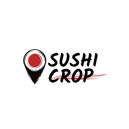 Sushi Delivery Ad Map Pin with Maki Animated Logoデザインテンプレート