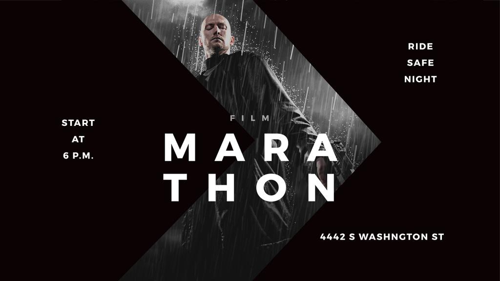 Film Marathon poster — Create a Design