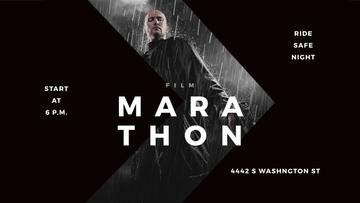 Film Marathon Ad Man with Gun under Rain | Youtube Channel Art