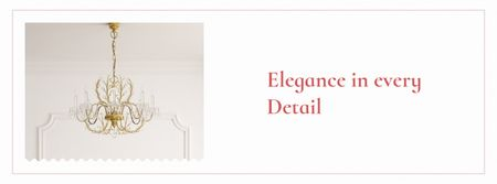 Template di design Elegant crystal Chandelier in room Facebook cover