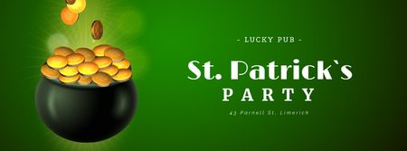 Plantilla de diseño de Saint Patrick's Day celebration attributes Facebook Video cover