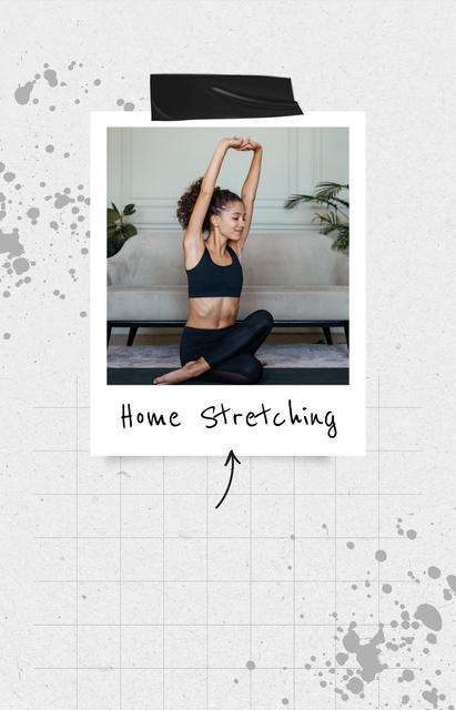 Woman stretching at Home IGTV Cover – шаблон для дизайну