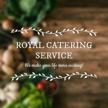 Plantilla de diseño de Catering Service Vegetables on table Instagram AD