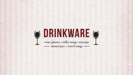 Modèle de visuel Drinkware Offer with Wine Glasses - Youtube
