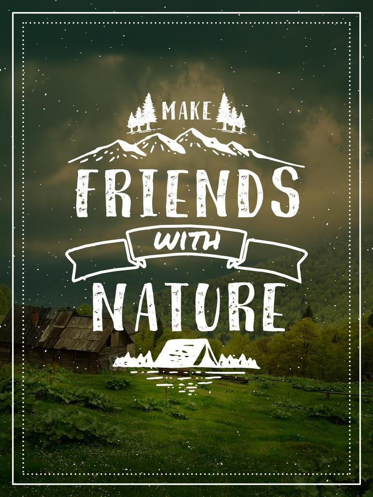 make friends with nature poster poster us 18x24in template  u2014 design online  u2014 crello