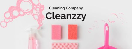 Template di design Cleaning Company promotion Facebook cover