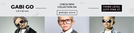 Children clothing store with Stylish Kids Twitter Modelo de Design