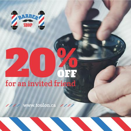 Template di design Barbershop Promotion Barber Making Foam Animated Post