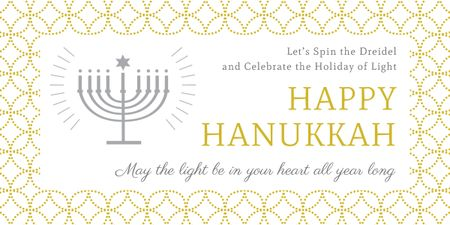 Invitation to Hanukkah celebration  Image Tasarım Şablonu