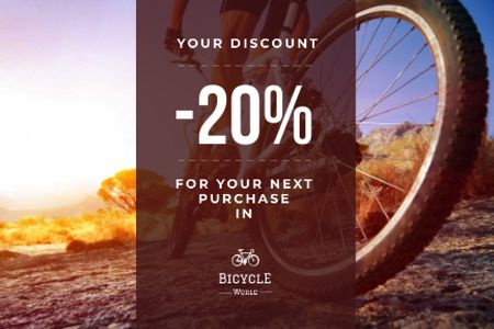 Discount voucher for bicycle store Gift Certificate – шаблон для дизайну