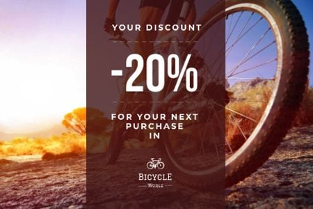 Discount voucher for bicycle store Gift Certificateデザインテンプレート