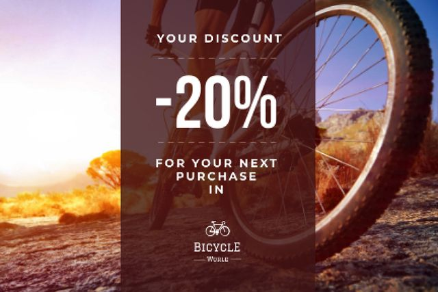Discount voucher for bicycle store Gift Certificate – шаблон для дизайна