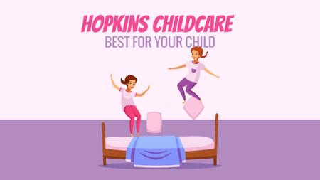 Plantilla de diseño de Children jumping on bed Full HD video