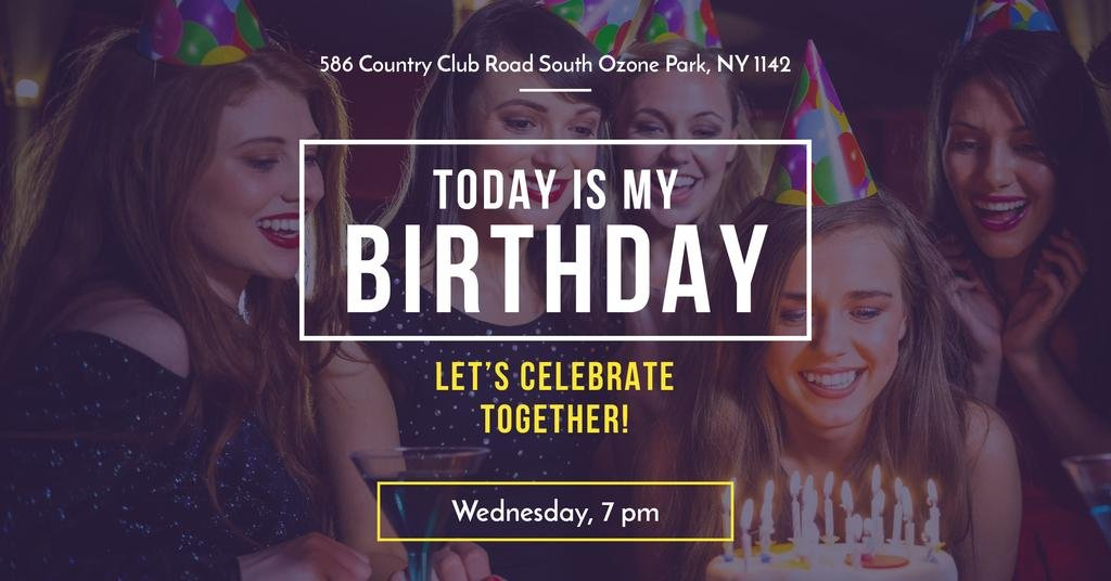 Birthday party in South Ozone park — Создать дизайн