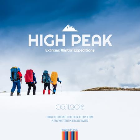 Ontwerpsjabloon van Instagram van High peak travelling Announcement