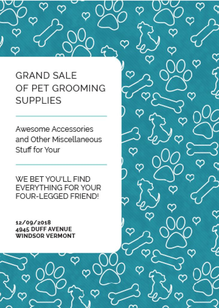 Grand sale of pet grooming supplies — Crea un design