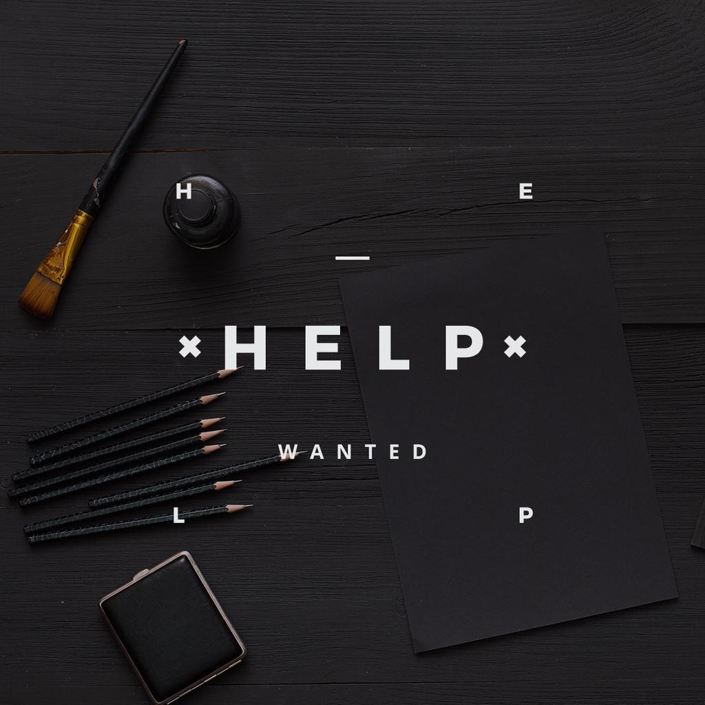 help wanted poster for workshop — Modelo de projeto