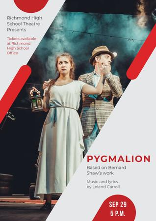 Plantilla de diseño de Pygmalion performance in Theater Poster