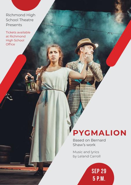 Pygmalion performance in Theater Poster – шаблон для дизайна