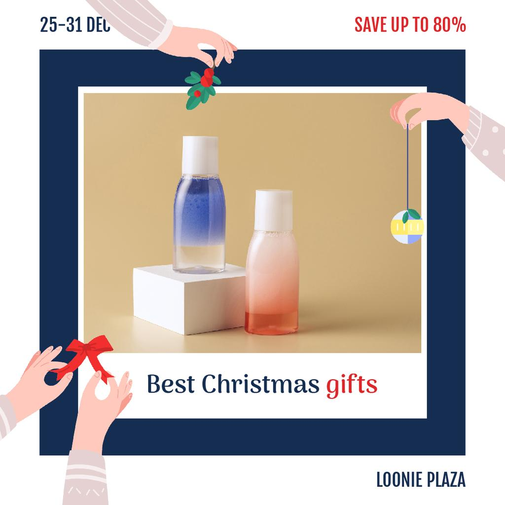 Christmas Sale Skincare Products Bottles — Modelo de projeto