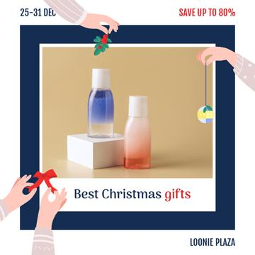 Christmas Sale Skincare Products Bottles