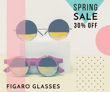 Sunglasses Sale Ad Stylish Round Glasses | Facebook Post Template