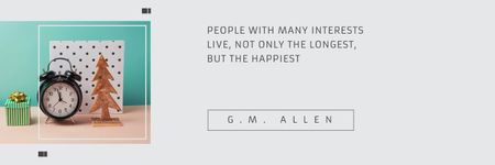 Citation about people with many interests Twitter Modelo de Design