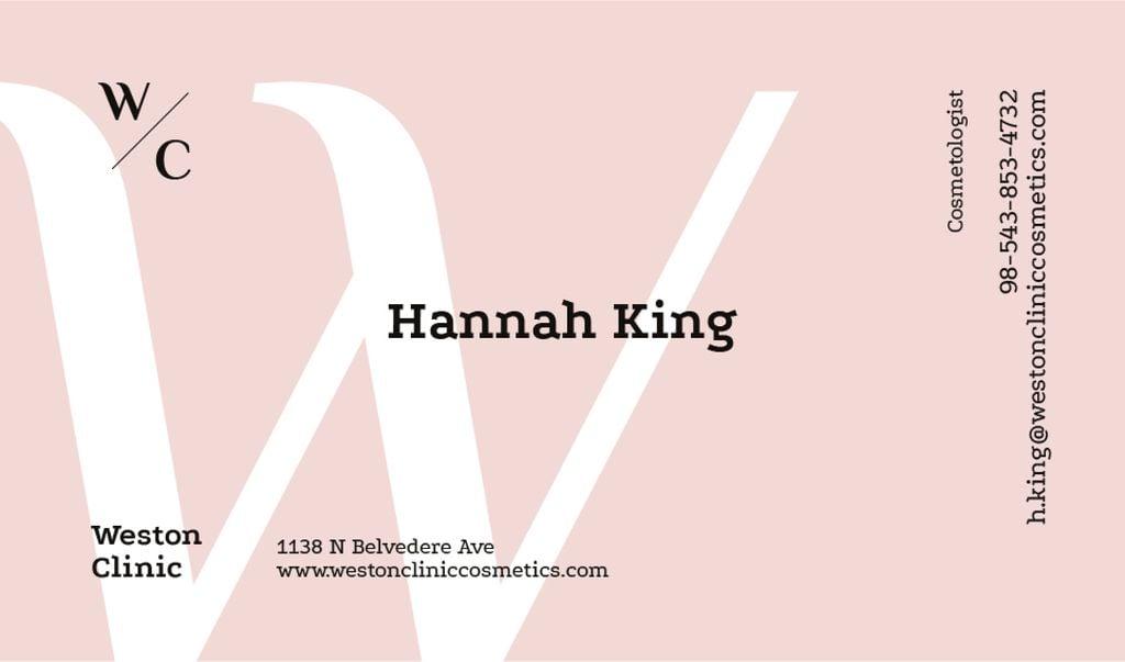 White letter W on pink — ein Design erstellen