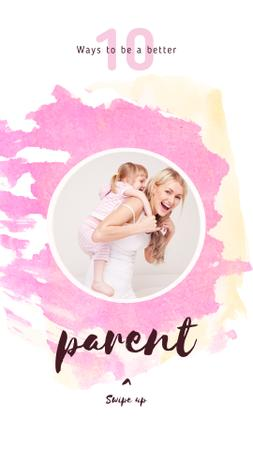 Template di design Happy mother with her daughter Instagram Story