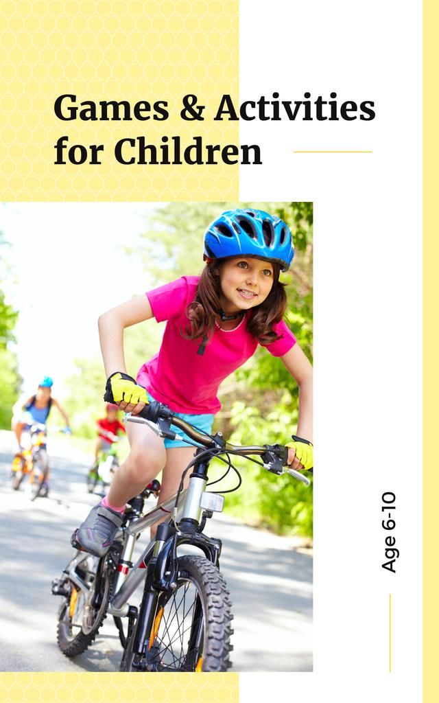 Active Girl Riding Bicycle — Создать дизайн