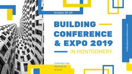 Modèle de visuel Building Conference announcement Modern Building Facade - FB event cover