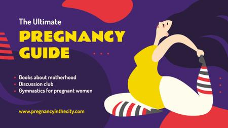 Pregnant Woman Doing Yoga FB event cover Modelo de Design