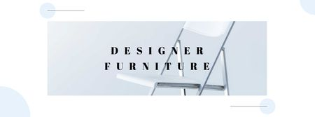 Ontwerpsjabloon van Facebook cover van Designer Furniture Offer with Modern Chair