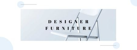 Plantilla de diseño de Designer Furniture Offer with Modern Chair Facebook cover