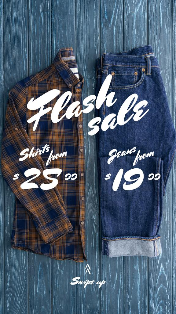 Template di design Fashion Sale Casual Male Outfit Instagram Story