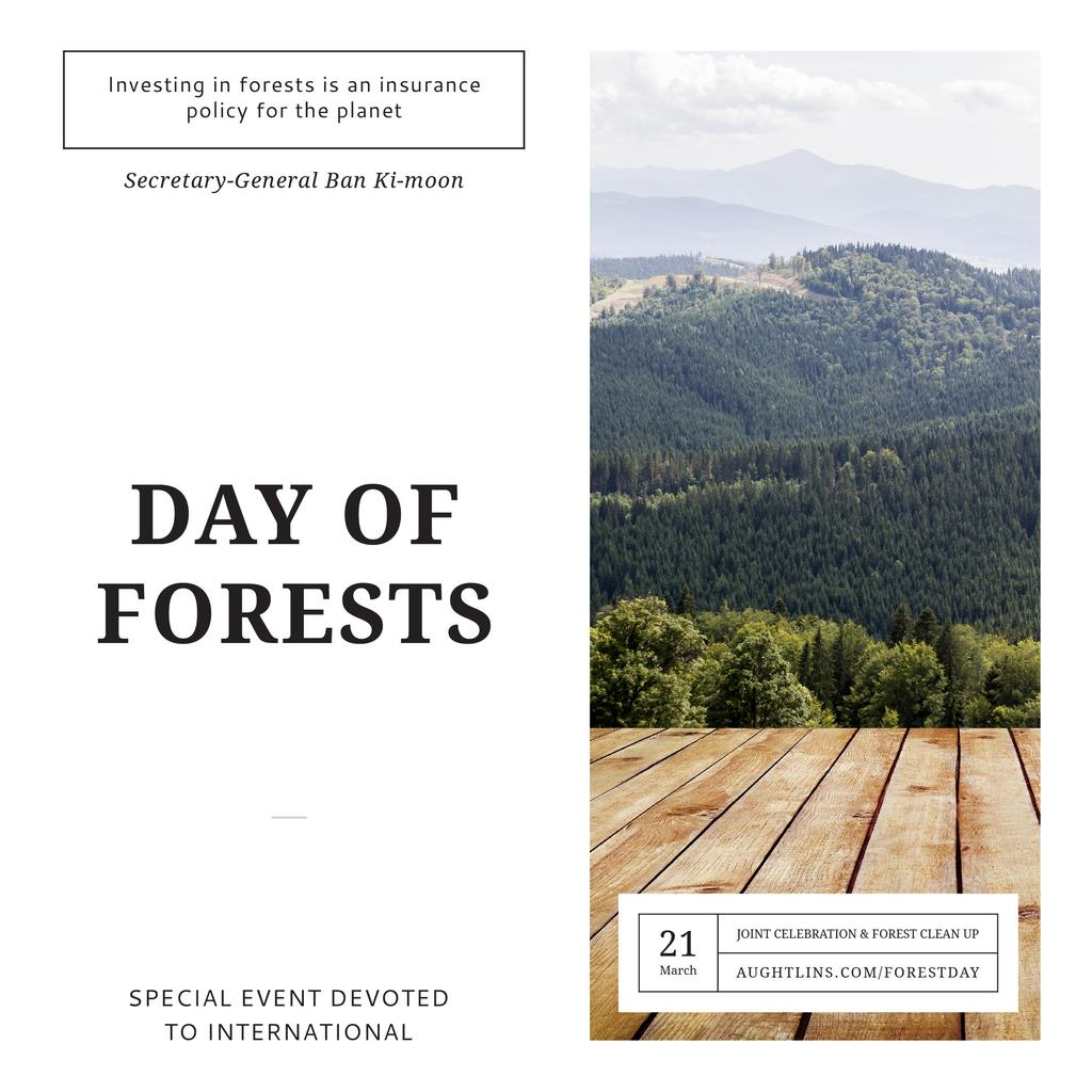 International Day of Forests Event Scenic Mountains — Modelo de projeto