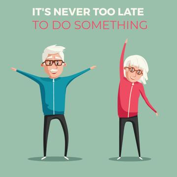 Old people exercising