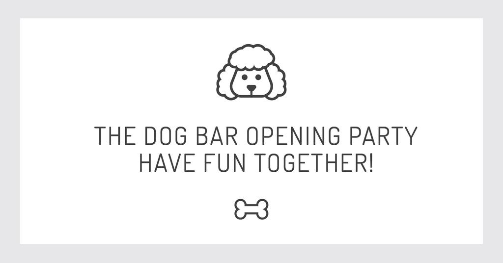 The dog bar Opening party with Puppy Icon — Crear un diseño