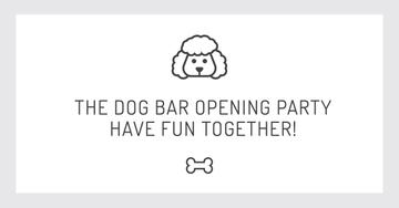 The dog bar Opening party with Puppy Icon