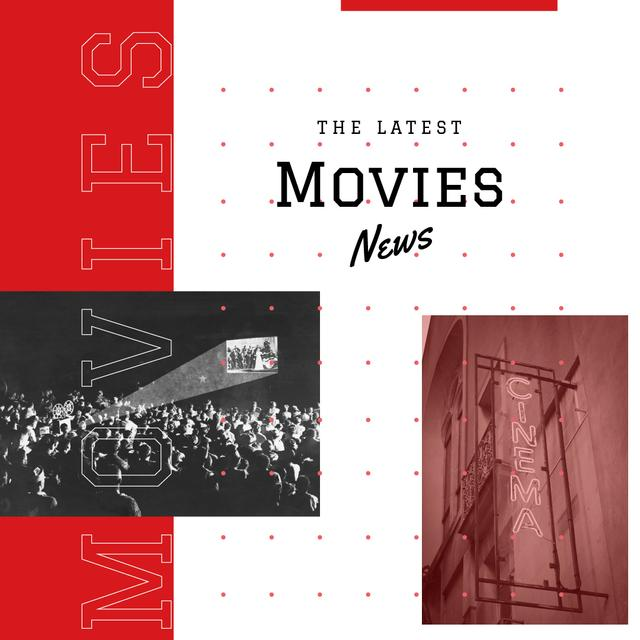 Template di design Movies News Ad People watching Cinema Instagram AD