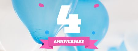 Plantilla de diseño de Anniversary celebration template Facebook Video cover