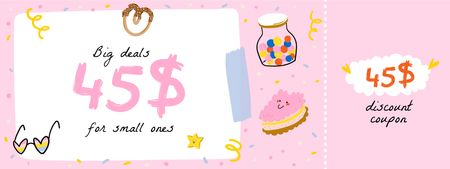 Template di design Kids' Things Discount Offer Coupon