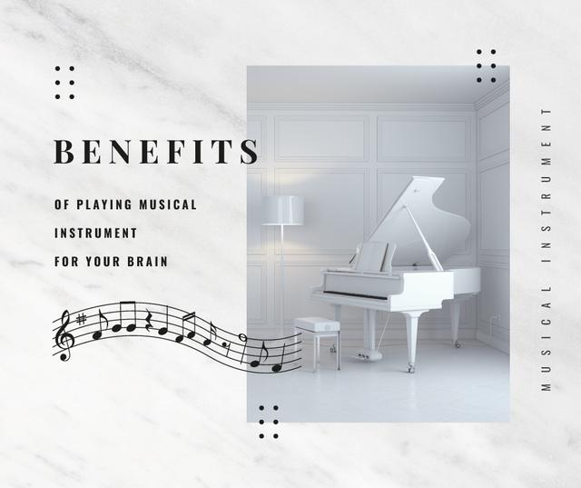 White grand Piano instrument Facebook Modelo de Design