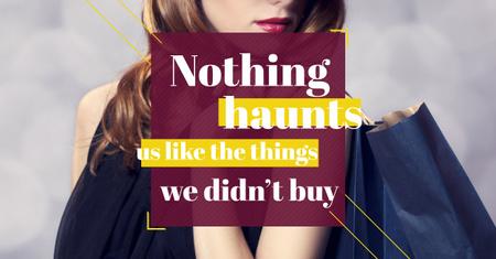 Quotation about shopping haunts Facebook AD Modelo de Design